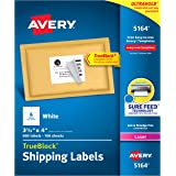 Avery Shipping Labels with TrueBlock Technology for Laser Printers, 3-1/3 x 4inch, 5164, 600ct