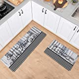 Asrug Anti Fatigue Comfort Kitchen Standing Desk Mat Decorative Ergonomic Floor Pad Kitchen Rug Waterproof Stain Resistance N