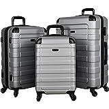 "POD Travel ""Prime"" 3-Piece Hardside Spinner Luggage Set (Silver)"