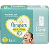 Pampers Swaddlers With Lumi Diapers, Size 1, Jumbo - Compatible With Lumi Sleep System (sold Separately), 32 Count