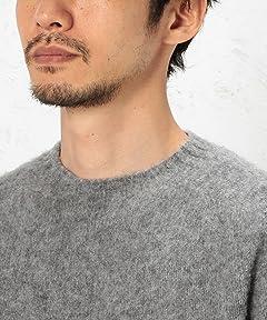 Shaggy Dog Wool Crewneck Sweater 3213-399-0427: Grey