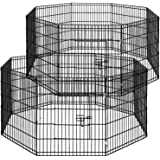 i.Pet 2X 30 8 Panel Pet Dog Playpen Puppy Exercise Cage Fence Rabbit Play Pen