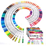 K&M 100 Dual Tips Art Markers- Watercolour Brush Pens, Water-Based highlighters for Colouring, Drawing, Highlighting and Bull