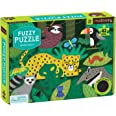 """Mudpuppy Rainforest Fuzzy Puzzle, 42 Chunky Pieces, 15""""x11"""" – For Ages 3+ - Colorful Rainforest Animals, Plants, Insects and"""