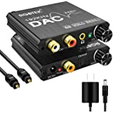 192KHz Digital to Analog Audio Converter with Bass and Volume Adjustment,Digital SPDIF/Optical/Toslink/Coaxial to Analog Ster