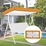 Outdoor Patio Swing Canopy Replacement Top Cover, Replacement Cover for Swing Canopy, Lawn Garden Seater Sun Shade Outdoor Po