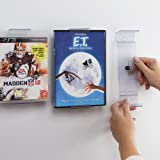 CollectorMount | ComicMount | AlbumMount DVD Mount Video Game, 45 Record and Blu-Ray Shelf Stand and Wall Mount, Invisible an