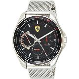 Ferrari Men's SPEEDRACER Quartz Watch with Stainless Steel Strap, Silver, 21 (Model: 0830684)