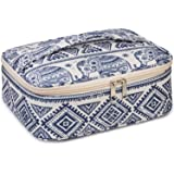 Travel Makeup Bag Large Cosmetic Bag Make up Case Organizer for Women and Girls (Elephant)