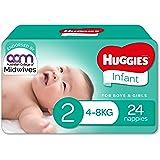 Huggies Newborn Nappies Size 2 (4-8kg) 24 Count