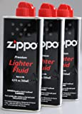 ZIPPO(ジッポー) Zippo オイル缶 【小缶133ml】 3本セット