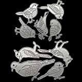 9 Pcs Carbon Steel Embossing Birds Cutting Dies Stencils Scrapbooking Bird Dies Cuts for DIY Albums, Kids Crafts, New Year/We