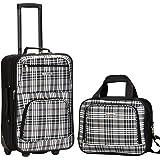 Rockland 2 Pc Luggage Set, Blackcross (Black) - F102-RED