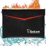 SEKAM Fireproof Document Bag (13.4 x 9.5 inch), Fireproof Money Bag, Fireproof Envelope Cash Bag, Water Resistant & Fire Safe