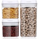 Airtight Food Storage Containers, Aitsite 3 PC BPA Free Sealed Container Clear Case with Easy Lock Lids,Kitchen Pantry Organi