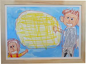 子供の絵 飾る イラスト 絵の保管 収納 子供の絵専用額縁 入学祝 クリスマスプレゼント 誕生プレゼント オサマルーエ ナチュラル