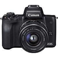 Canon ミラーレス一眼カメラ EOS Kiss M 標準ズームキット ブラック EOSKISSMBK-1545ISS…