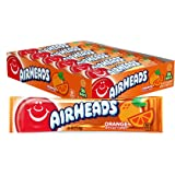 Airheads Candy, Individually Wrapped Full Size Bars for Halloween, Orange, Bulk Taffy, Non Melting, Party, 0.55 Ounce (Pack o