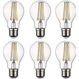 SD LUX LED Light Bulb Base Classic A Lamp E27, 8 W 806 Lumen Filament Lamps, Replaces 75 W Filament Bulb, 2700 K Warm White B