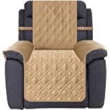 Ameritex Waterproof Recliner Cover Stay in Place, Dog Couch Chair Cover Furniture Protector for Pets and Kids (Pattern1:Sand,