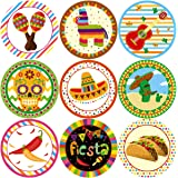Fancy Land Fiesta Party Stickers Cinco De Mayo Festival Mexican Decorations 200Pcs Per Roll