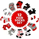 Disney baby-girls Disney Mickey & Minnie Mouse Assorted Color Pair Socks Set Socks