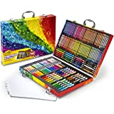 Crayola Inspiration Art Case: 140 Pieces, Deluxe Set with Crayons, Pencils, Markers and Paper in a Portable Storage Case, Gre