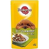 ペディグリー 成犬用 ビーフ&緑黄色野菜 チーズ入り 130g×10個入り [ドッグフード・パウチ]