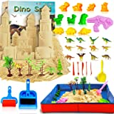 Play Sand Art Kits for Kids Kinetic Magic Sand 4.5 LB DIY Sand Set with Colorful Castle Dino Molds Indoor Sand Beach Gifts fo