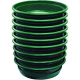 """SE GP2-9 SET 9-Piece Set of Patented Stackable 13-1/4"""" Sifting Pans, Green"""