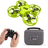 Dwi Dowellin Mini Drone for Kids Crash Proof One Key Take Off Landing Spin Flips RC Small Drones for Beginners Boys and Girls