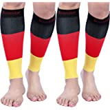 Doc Miller Premium Calf Compression Sleeve 1 Pair 15-20 mmHg Firm Calf Support Graduated Pressure for Sports Running Muscle R