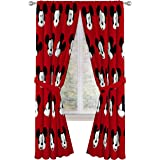 """Jay Franco Disney Mickey Mouse Cute Faces 84"""" Inch Drapes 4 Piece Set - Beautiful Room Décor & Easy Set Up - Window Curtains"""