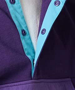 Stand Collar Pullover Blouson 11-18-2991-120: Purple / Saxe
