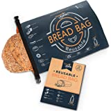 Reusable Bread Bag for Homemade Bread, Made from Recycled Plastic Bottles - Freezer-Safe Food Storage Bag with Double Lining