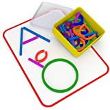 Osmo - Little Genius Sticks & Rings - Includes 2 Games - ABCs & Squiggle Magic - Ages 3-5 - Preschool Ages - Imagination, Let