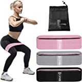 Booty Bands Set - 3 Levels Girly Resistance Bands for Hips, Thighs and Glutes Activation - Suitable for Beginner, Intermediat