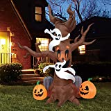Joiedomi Halloween 8 FT Inflatable Scary Tree with Build-in LEDs Blow Up Inflatables for Halloween Party Indoor, Outdoor, Yar