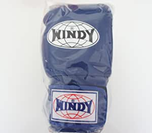 WINDY ウインディ 本革製キックボクシング グローブ 青 16オンス