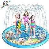 "Homga 68"" Sprinkler for Kids Outdoor Sprinkler Pad Mat for Infants Toddlers-Inflatable Baby Swimming Pool Backyard Play Mat f"