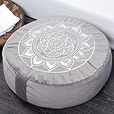 "Florensi Meditation Cushion (16""x16""x5""), Extra Large Meditation Pillow, Yoga Pillow for Women, Yoga Meditation Cushion, Medi"