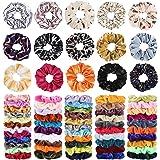 68Pcs Hair Scrunchies, Velvet Hair Scrunchies Elastic Hair Bands, Hair Ties Ropes Scrunchie for Women or Girls Hair Accessori