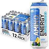 OPTIMUM NUTRITION ESSENTIAL AMINO ENERGY Plus Electrolytes Sparkling Hydration Drink, Blueberry Lemonade, Keto Friendly BCAAs