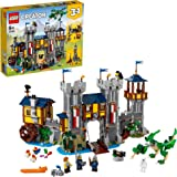 LEGO 31120 Creator 3in1 Medieval Castle Toy to Tower or Marketplace, Building Set with Dragon Figure and Catapult