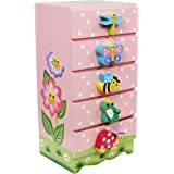 Fantasy Fields - Magic Garden Thematic Kids Wooden Jewelry Box | Imagination Inspiring Hand Painted Details | Non-Toxic, Lead