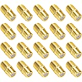 TLS.eagle Gold Plated F-Type Coaxial RG6 Connector Cable Extension Adapter