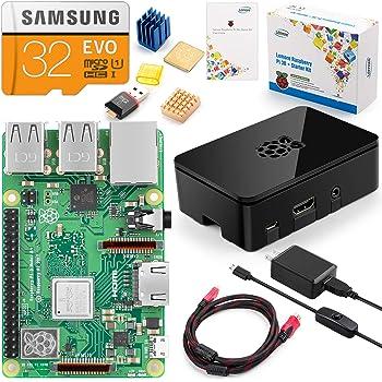 LEMORE Raspberry pi 3 model b+ ボード&専用ケースセット ラズベリーパイ 3b+ モデル B 32GB(class 10) 豊富な付属品 日本語説明書 ブラックケース【本体+コンプリートスターターキット】