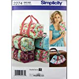 Simplicity Overnight Bag with Luggage Tag and Clutch Sewing Pattern, One Size