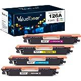 Valuetoner Remanufactured Toner Cartridge Replacement for HP 126A CE310A CE311A CE312A CE313A for Color Laserjet Pro MFP M175