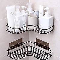 SYOSIN 浴室ラック コーナーラック 台所収納ラック 強力粘着固定 ステンレス金属製 シャワーラック お風呂場/キッ…